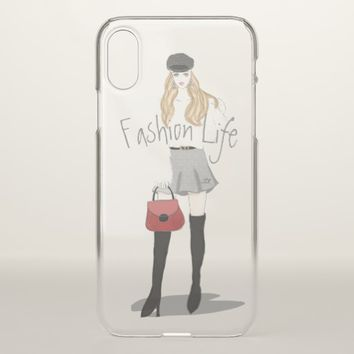 Fashion Girl iPhone X Case