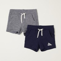 2-pack Jersey Shorts - Dark blue - | H&M US