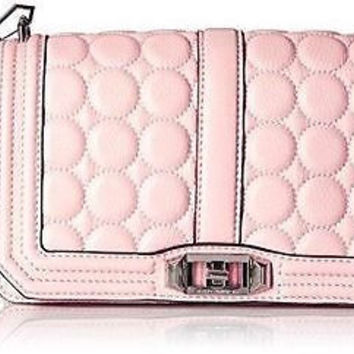 New REBECCA MINKOFF Crossbody Love Handbag Leather Quilt HS16EAMX08 ✨ RT $295