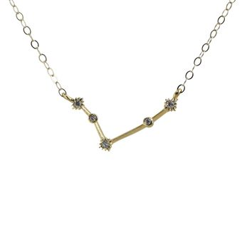 Aries Constellation CZ Outline Necklace