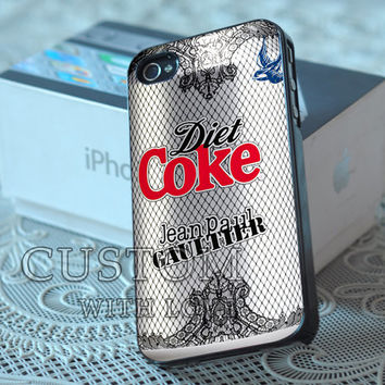 Diet Coke Can - Rubber or Plastic Print Custom - iPhone 4/4s, 5 - Samsung S3 i9300, S4 i9500 - iPod 4, 5