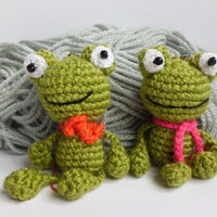 Crochet Frog Amigurumi Green Frog Toy Boy Gift Crochet Toy amigurumi toad plush Keychain toys gift for boy stuffed Animals  plush
