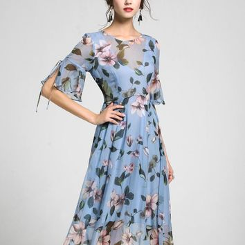 Women Dress Floral Print Work Business Casual
