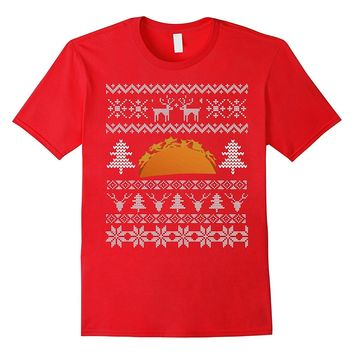 Funny Christmas Taco Ugly Sweater T-Shirt