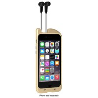 TurtleCell - Retractable Headphone Hard Shell Case for Apple® iPhone® 6 - Gold