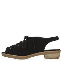 FUN Lace Up Shoes - Black