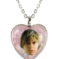 I LOVE TATE GLITTER NECKLACE