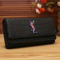 YSL Women Fashion Leather Buckle Wallet Purse G-LLBPFSH