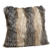 Pieced Fox Faux Fur Pillows by Fabulous Furs