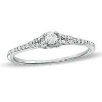 1/5 CT. T.W. Diamond Promise Ring is 10K White Gold - View All Rings - Zales