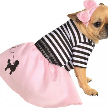 Fifties Girl Pink Dog Pet Costume