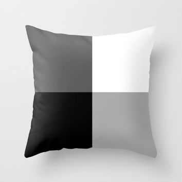 #28 Squares Throw Pillow by Minimalist Forms