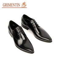 Italian luxury formal fashion oxfords mens dress shoes genuine leather black brown flats for men