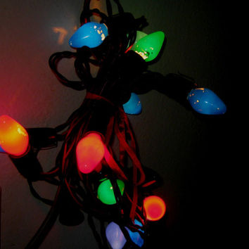String Of Christmas Tree Lights Not Working : Shop Vintage Christmas Tree Lights on Wanelo