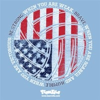 Volleyball US Flag Shirt