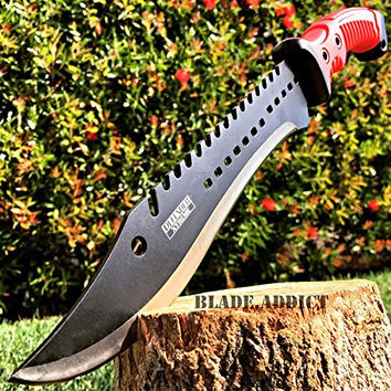"""NEW! 16"""" TACTICAL HUNTING SURVIVAL RAMBO FIXED BLADE MACHETE KNIFE Camping Axe Sword"""