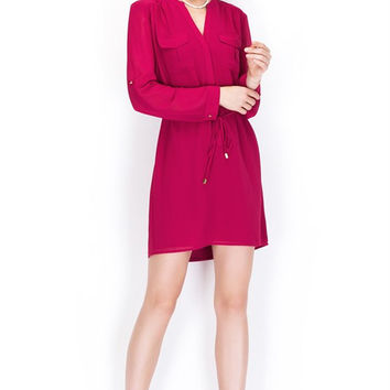 Merlot Shirt Dress *SIZE SMALL ONLY**