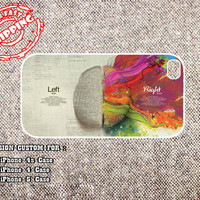 Left Brain iphone 4 case, iphone 5 case, samsung galaxy s3 case