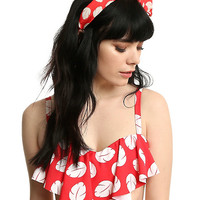 Disney Lilo & Stitch Hibiscus Print Swim Top