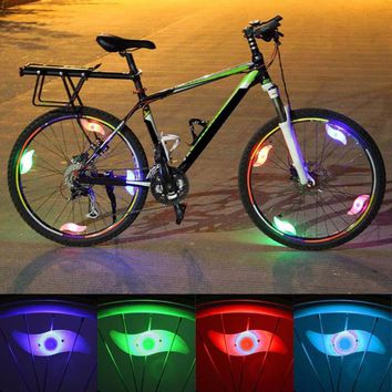 Willow Shape Led Bicycle Spoke Light Mountain Cycling Lamp Light Running Bike Light Bicycle Accessories Red Blue Green