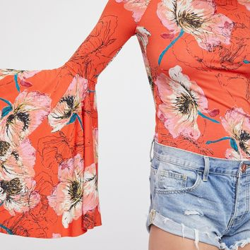 Free People We The Free Printed Birds Of Paradise Top