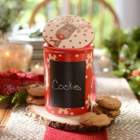Ceramic Christmas Canister with Chalkboard