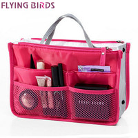 FLYING BIRDS! 2016 Multifunction Makeup Organizer Bag Women Cosmetic Bags toiletry kits FASHION Travel Bags Ladies Bolsas LM2136