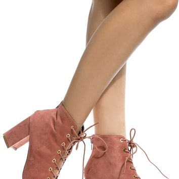Blush Faux Suede Chunky Lace Up Booties @ Cicihot. Booties spell style, so if you want to show what you're made of, pick up a pair. Have fun experimenting with all we have to offer!