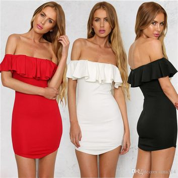 New Fashion black sexy dress deep boat neck dresses perspective tight dress party dress free shipping BB012