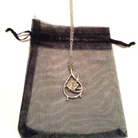 Desolation of Smaug The Hobbit Tauriel Elven Silver Plated Necklace LOTR + Bag