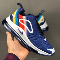 Nike Air Max 720 Navy White Multi Color Running Shoes - Best Deal Online