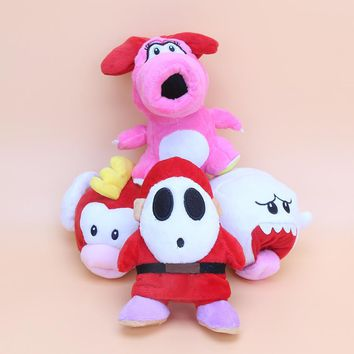 9cm Super Mario Bros boo ghost Shy Guy Flying Fish Birdo Plush Stuffed Dolls Mario Plush Toys