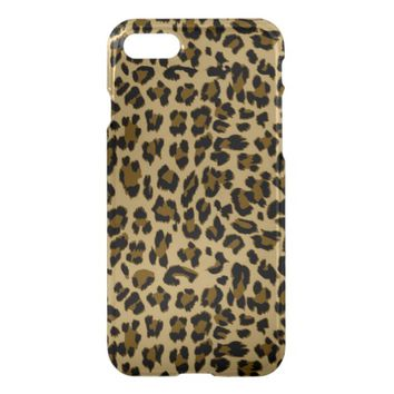 Leopard Print Uncommon Clearly Deflector iPhone 7 Case