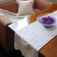 Oroshi Crochet RUNNER- Handmade Crochet Table Runner- Wedding Collection- Table Decor- Wedding Decor