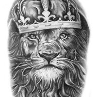 Tattoo lion Waterproof Temporary Tattoo Stickers