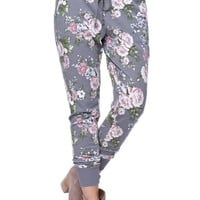 LA Hearts Printed French Terry Jogger Pants - Womens Pants - Floral