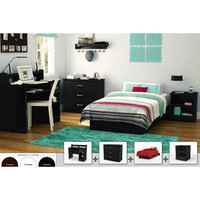 Walmart: South Shore 4-piece Bedroom Furniture Set, Black