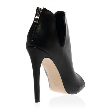 Loretta Stiletto Ankle Boots in Black