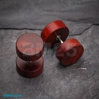 A Pair of Cherry Wood Fake Plug