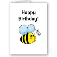 Happy birthday! (bumble bee) greeting cards from Zazzle.com