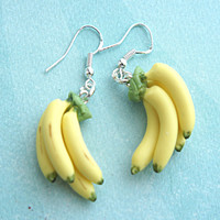 banana bunch earrings