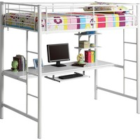 Sunrise Metal Twin / Workstation Bunk Bed White