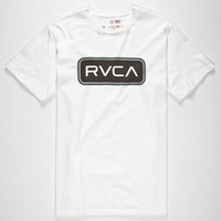 Rvca Service Mens T-Shirt White  In Sizes