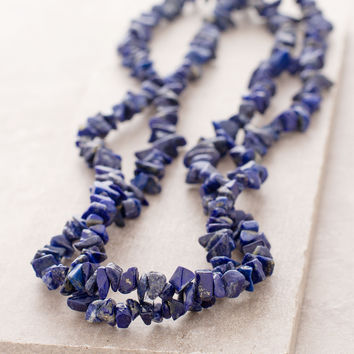 Lapis Gemstone Chip Necklace