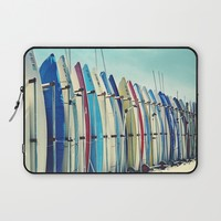 California surfboards Laptop Sleeve by sylviacookphotography