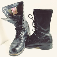 Corcoran Quality, World War 2, Authentic, Black Leather, Military, Paratrooper Boots, Combat Boots, Mens Size 6M