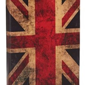 Union Jack Printed Italian Nubuck Leather Journal 6'' x 8''