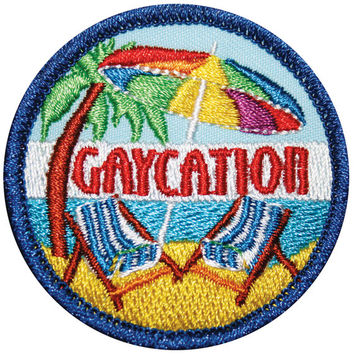 Gaycation Nation Gay Merit Badge
