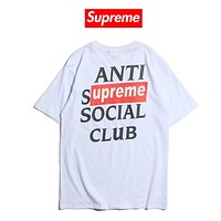 Supreme italy x ASSC Casual Fashion Tunic Shirt Top Blouse