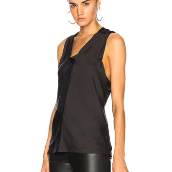 Alexander Wang Paneled Bias Tank Top in Black | FWRD